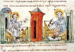 Кирилл и Мефодий составляют славянскую азбуку
